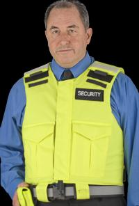 High Visibility Body Armour Jacket. This model is a  Stab Resistant  version of our Police Patrol
