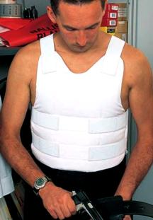 Picture of police covert body armour stab proof (resistant) covert vest