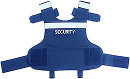 Back View of Security Patrol Body Armour