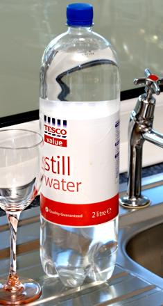 2 Litres of water - similar in weight and diameter to the HOSDB stab test sabot