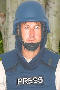 News Reporter Body Armour Jacket with Bullet Proof Helmet